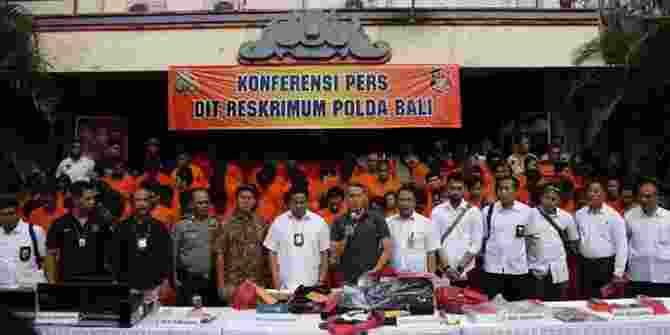 172 Pelaku Kejahatan Jalanan Di Pulau Bali Berhasil Ditangkap