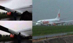 Maskapai Lion Air Menyebutkan Pesawatnya yang Terpeleset Dalam Kondisi Baik